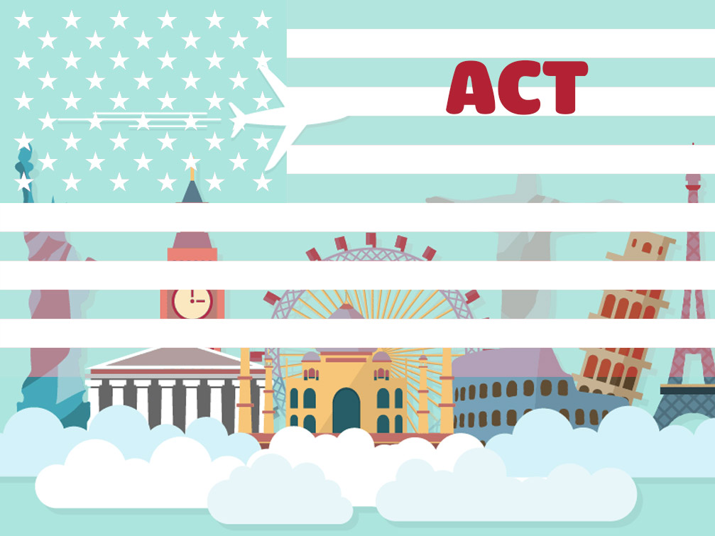 Is the ACT certificate popular when studying in US