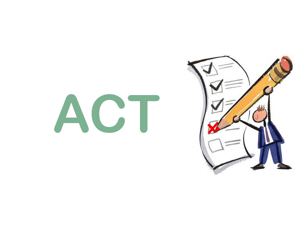 What are the sections in the ACT test prep