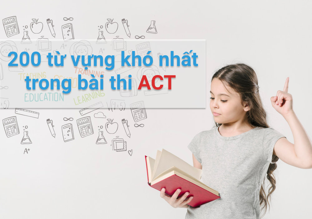 200 most difficult words in the ACT test